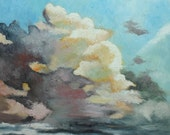 Clouds 24 30x30 inch original oil painting by Roz SALE