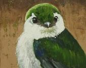 Bird 114 12x12 inch original oil painting by Roz
