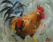 11x14 Print of oil painting Rooster163 by Roz