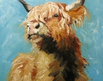 Print Cow192 10x10 inch Print from oil painting by Roz