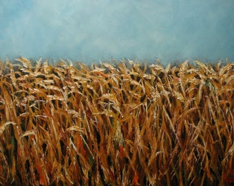 16x20 Print of oil painting Wheat by Roz