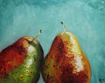 16x20 Print of oil painting Pears 8 by Roz