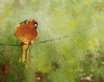 Bird 26 20x20 inch Print from oil painting by Roz
