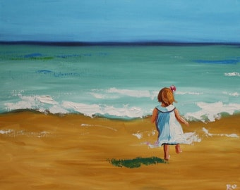 16x20 inch Beach 39 Print of oil painting by Roz