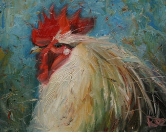 rooster121 11x14inch Print of oil painting by Roz
