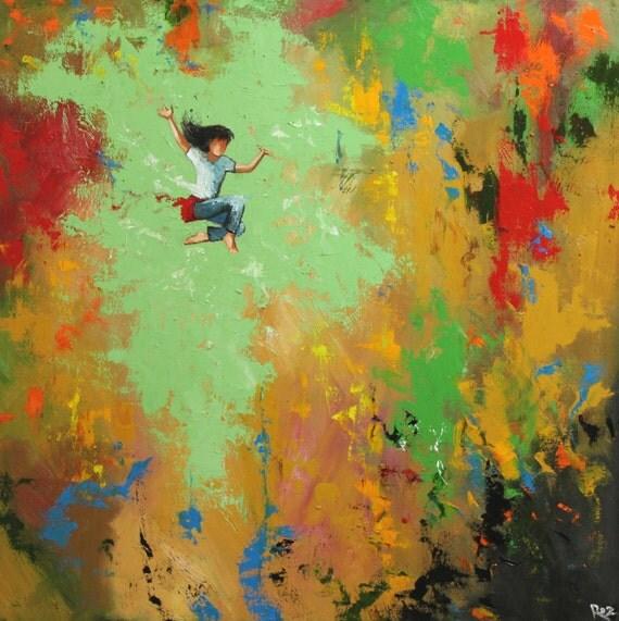 Custom Portrait Leap custom portrait figure oil Painting by Roz