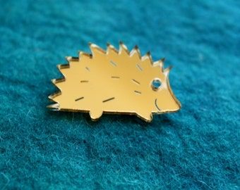Hedgehog Brooch,Plexiglass Pin,Lasercut Acrylic,GiftsUnder 25