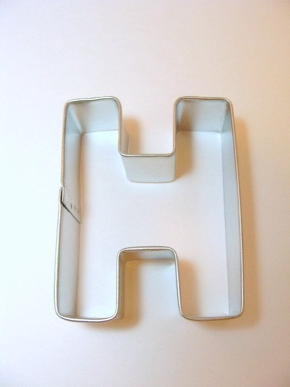 capital letter e cookie cutter from cookiecutterguy on capital letter h cookie cutter from cookiecutterguy on 390