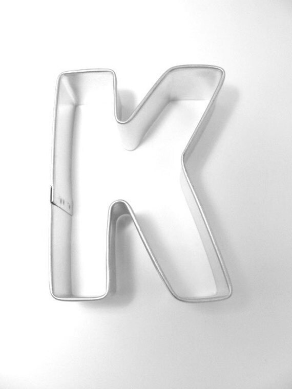 capital letter e cookie cutter from cookiecutterguy on capital letter k metal cookie cutter from cookiecutterguy 390