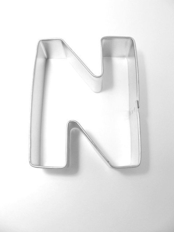capital letter e cookie cutter from cookiecutterguy on capital letter n cookie cutter from cookiecutterguy on 390