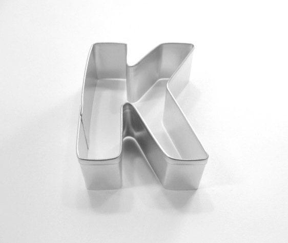 capital letter e cookie cutter from cookiecutterguy on capital letter k metal cookie cutter from cookiecutterguy 397