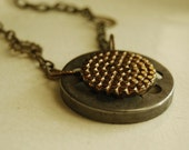 Steampunk Necklace, Victorian Vintage Button Jewelry