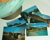 1960s Vintage Postcards Motels U.S. Travel Postcards, 5 Card Instant Collection