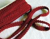 Vintage Red Braid Trim (4 Plus Yards)