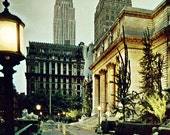 1970s Vintage Postcard New York Public Library, by Mike Roberts