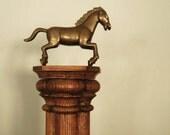 Vintage Wood Salvage Oak Column Architectural Salvage Display Shelf