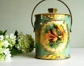 Vintage Murray Allen Candy Tin with Tropical Birds