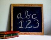 Vintage Chalkboard Rustic Natural Slate in Wooden Frame