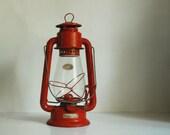 Vintage Lantern Red Kerosene Camping Lantern, Dietz Junior No. 20