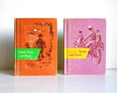 1950s Vintage Books New Streets and Roads, More Times and Places, Dick and Jane Series Childrens Readers