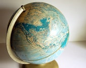 Vintage Globe Rand McNally World Portrait Relief Globe, 1980s