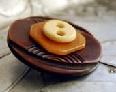 Mask Vintage Button Pin