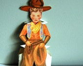1940s Vintage Paper Doll, Boy with 8 Outfits