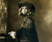Vintage Postcard Real Photo Postcard, circa 1910, of Costumed Boy