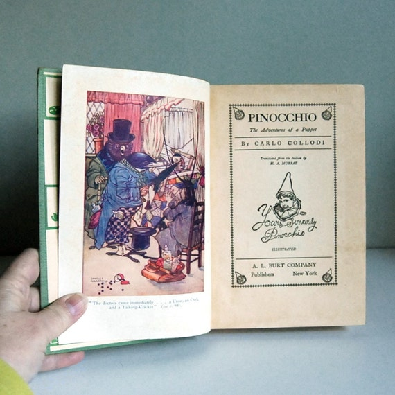 1930s Pinocchio, Vintage Children's Book