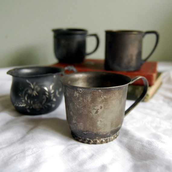 Vintage Baby Cup Collection, Silverplate