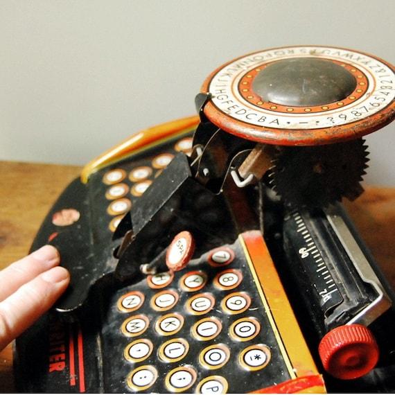 Vintage Marx Toy Typewriter, Junior Dial, circa 1940s