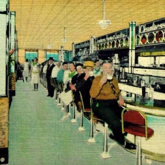 Vintage Postcard, Galveston, Texas, Douvrys Seaview Cafe