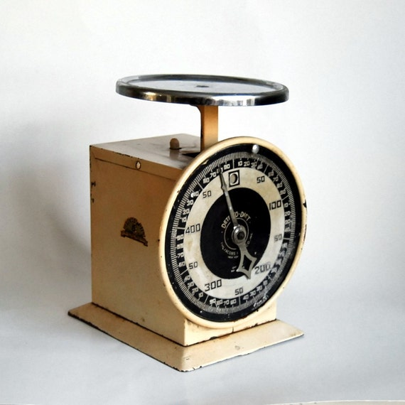 Vintage kitchen scale rustic detecto diet scale shabby chic for Rustic kitchen scale