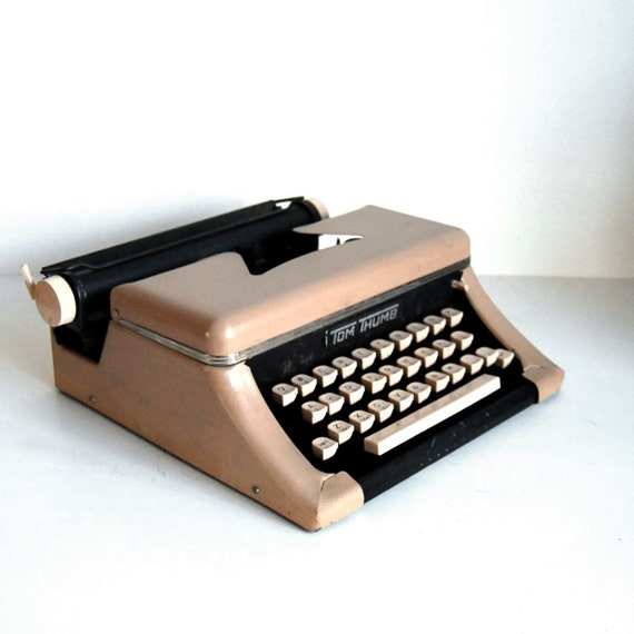 Vintage Toy Typewriter Tom Thumb Typewriter with Case