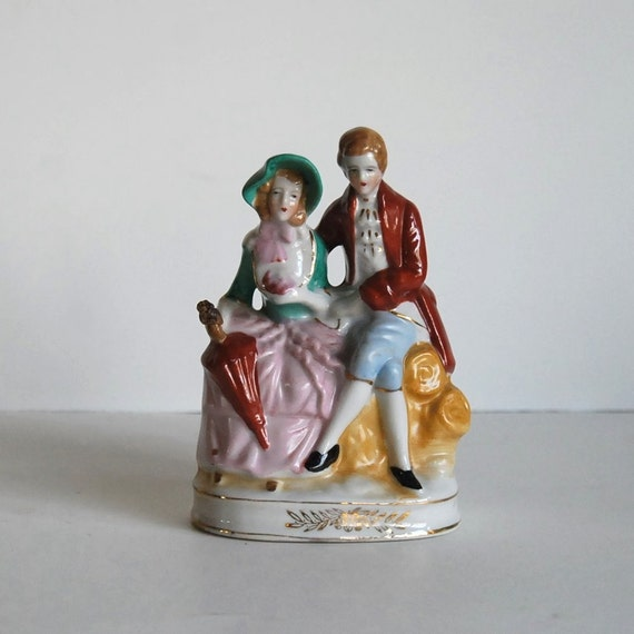 Vintage Figurine Mid Century Japanese Colonial By Calloohcallay