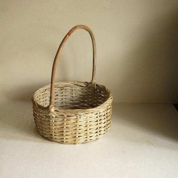 Vintage Wicker Easter Basket