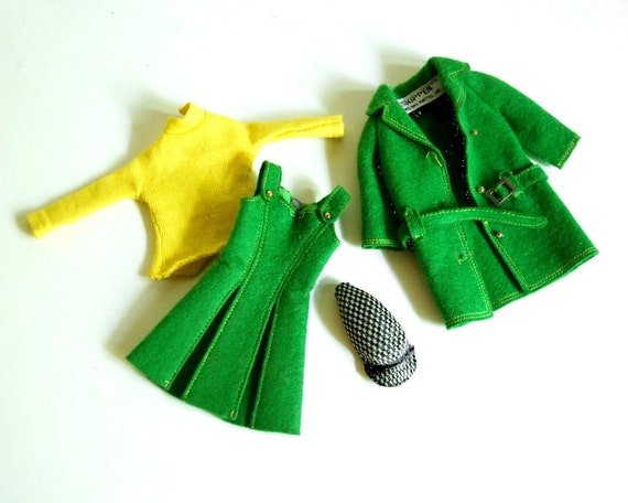 Vintage 1965 Doll Clothes Skipper Town Togs Jacket, Jumper, Shirt, Hat, 1922