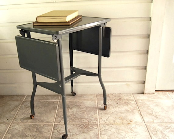 Vintage Typewriter Stand Industrial Metal Typing Table Eames Era Mad Men / Etsy Black Friday, Etsy Cyber Monday
