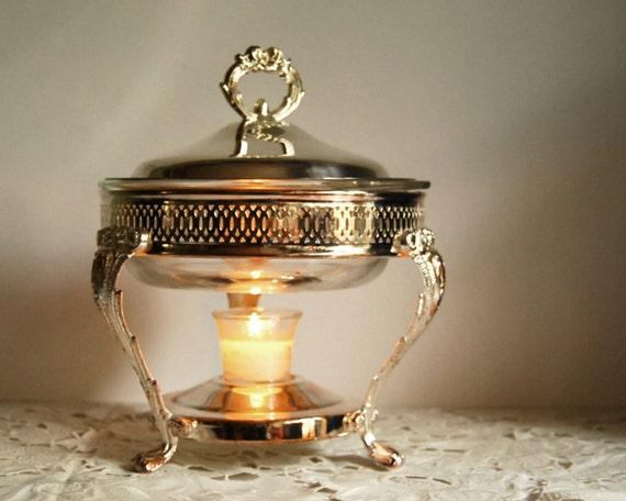 Cooking Warmers Vintage Fireplace ~ Vintage silver plate serving food warmer leonard casserole