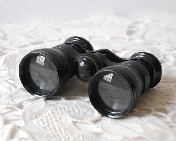 Vintage Binoculars French 1920s Lemaire Fabt Paris Horse Racing Opera Glasses