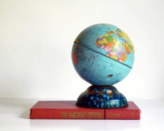 Vintage Globe Bank Ohio Art 1960s Toy World Globe Collectibles