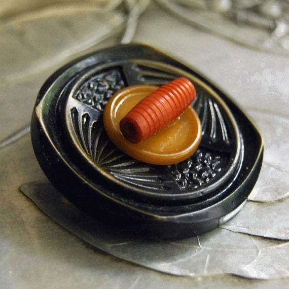 Autumn Dreams Vintage Button Pin