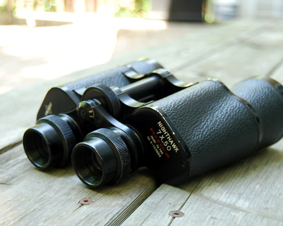 Vintage Binoculars Swift Vega Nighthawk 7X50 Field Glasses with Case Model 788
