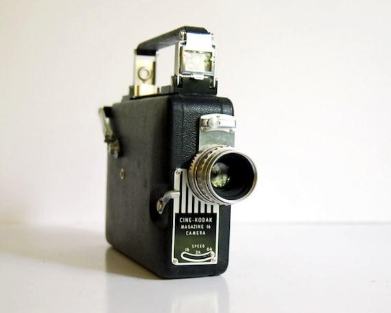 Vintage Movie Camera 1940s Cine Kodak Magazine 16 Film Camera with Box 16mm