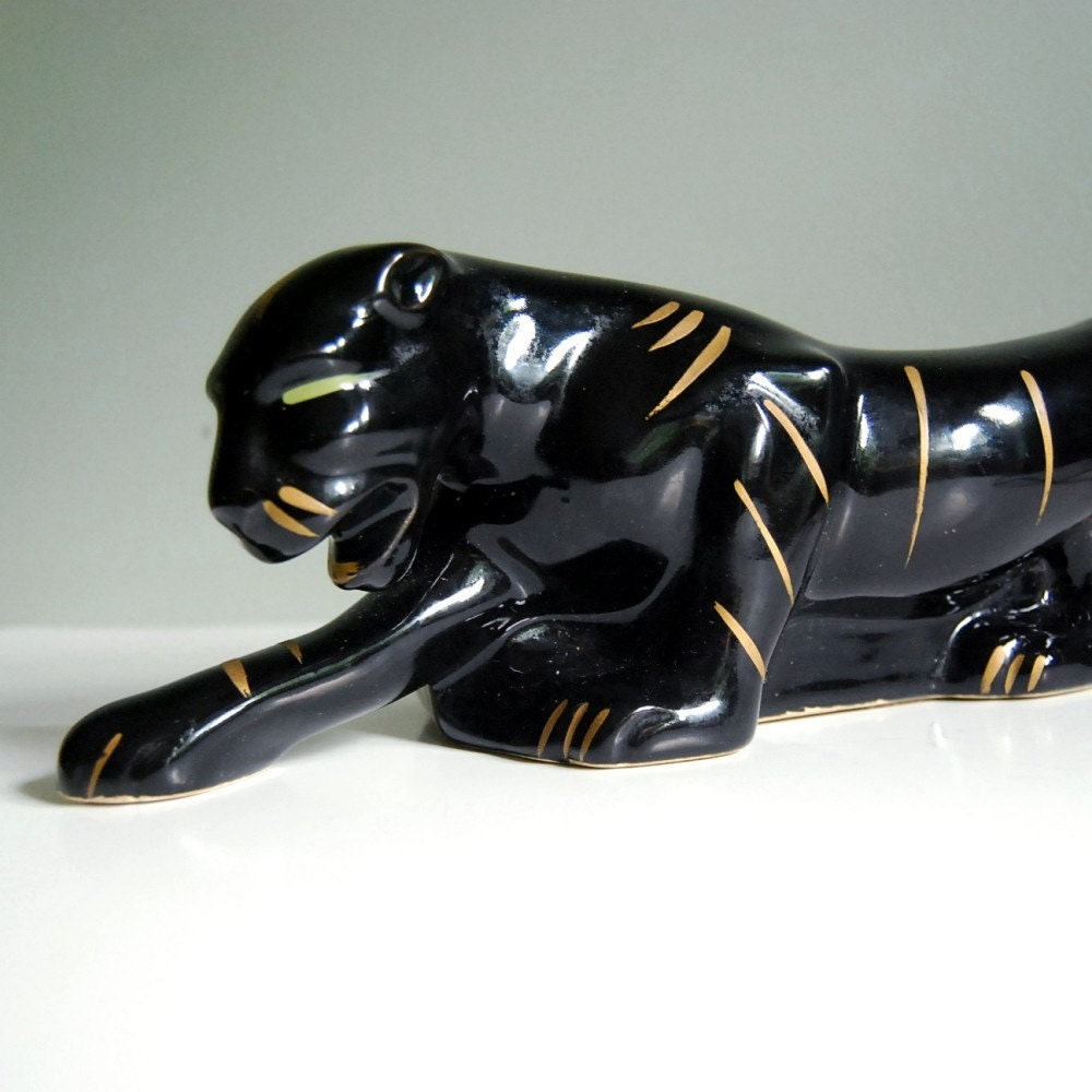 1950s Panther Tv Lamp And Planter Vintage Kitsch By