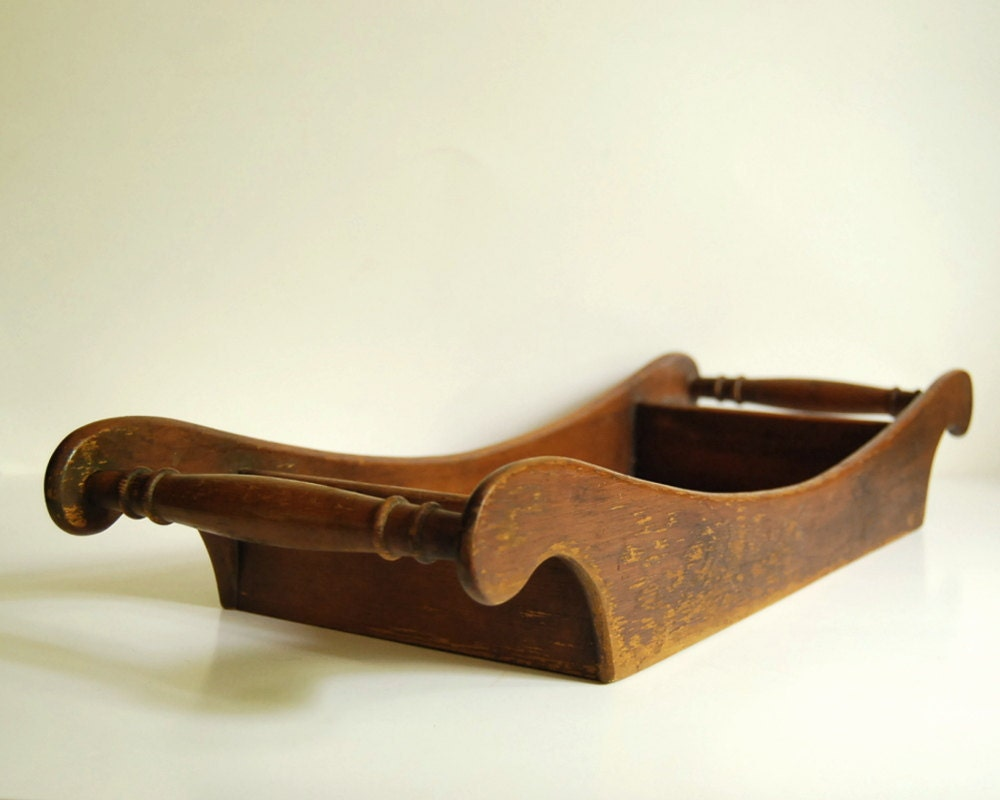 Vintage Wooden Tray Rustic Solid Wood Tray Brown Serving Tray