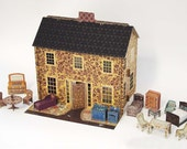 Reserved for Tay…: Emily's Dollhouse, A Fully Assembled Pop-Up Cardboard Dollhouse with all accessories (1/2 scale)