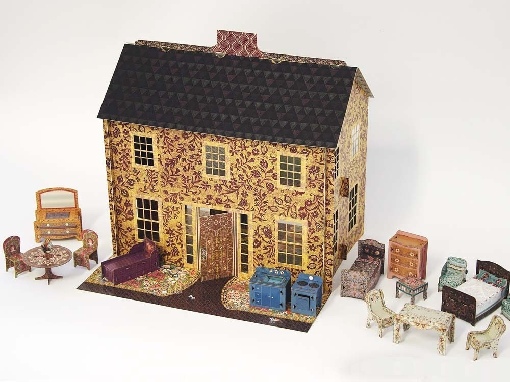Emily S Dollhouse A Fully Assembled Pop Up Cardboard