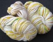 Reserved SPRING FLING - Custom Hand-Spun Bulky Wool