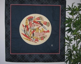 Serizawa Birds  Large Wall Hanging Quilt Japanese Asian Design